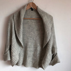 Banana Republic Gray Ribben Open Cardigan Alpaca
